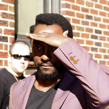 will.i.am arrives to Late Show With David Letterman