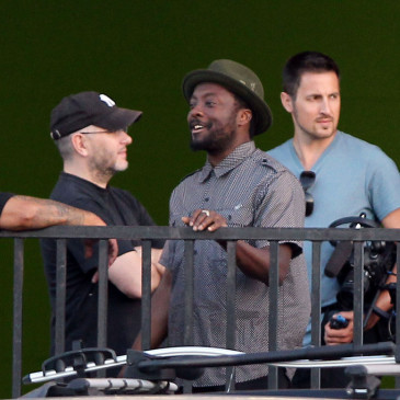 will.i.am on the set of The Script's video