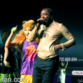 will.i.am performed at 2NE1's show