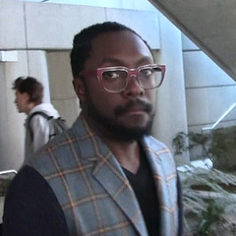 will.i.am arrives at LAX