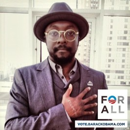 will.i.am supports Presidential Election