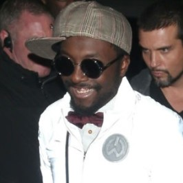 will.i.am arriving at Whisky Mist