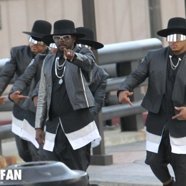 will.i.am on the set of #thatPOWER video