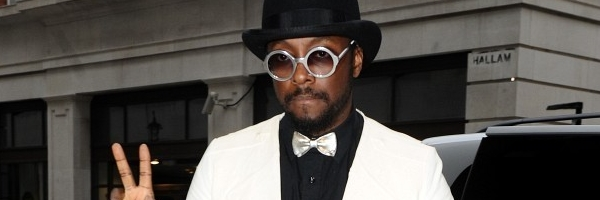 will.i.am arriving at BBC studios