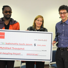 will.i.am & EKOCYCLE donated $200,000 for SSBX Recycling Project