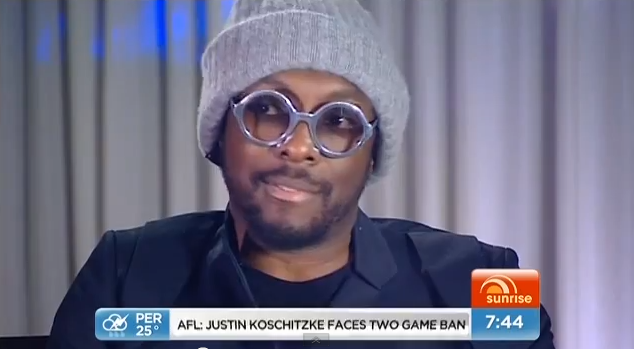 will.i.am on Sunrise show