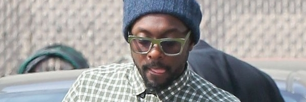 will.i.am arriving at Jimmy Kimel