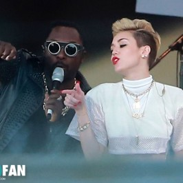 will.i.am and Miley Cyrus performed on Jimmy Kimmel Live