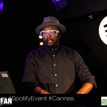will.i.am attended Spotify event in Cannes