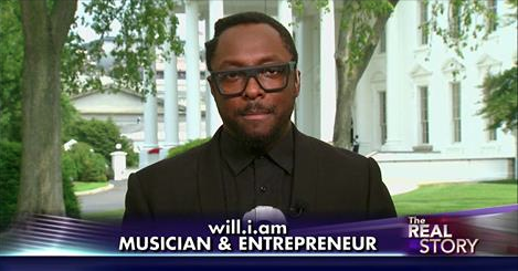 WILL.I.AM AT THE WHITE HOUSE