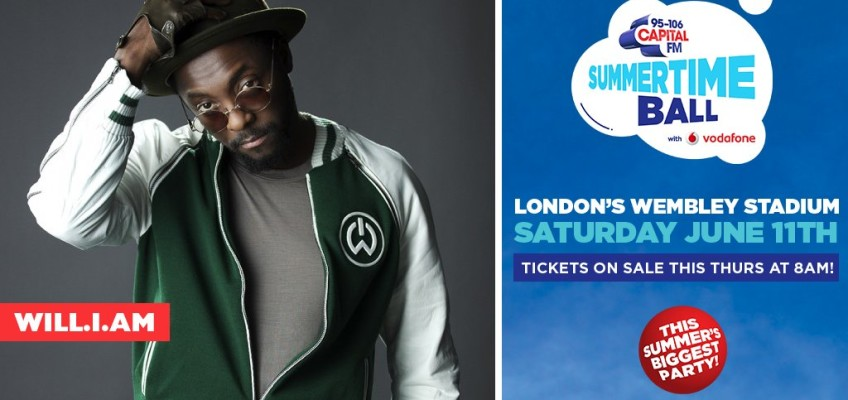Will.i.am to perform at Capital Summertime Ball 2016